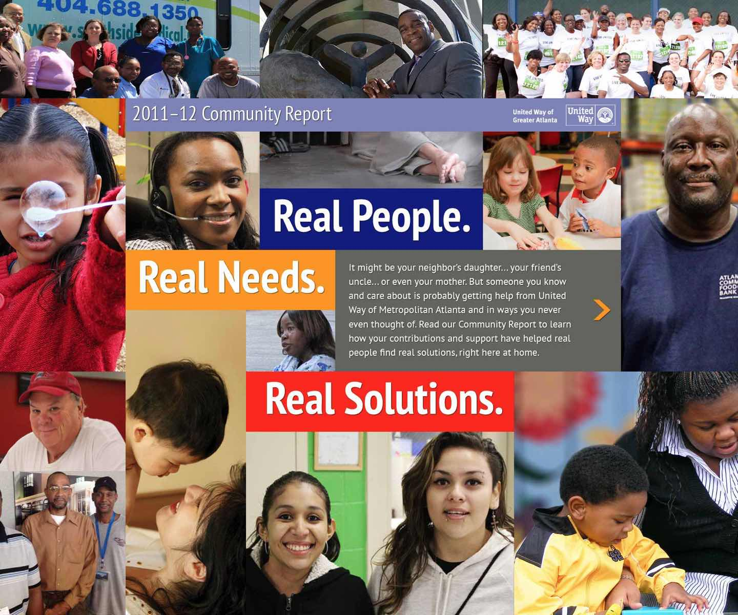 United Way Community Report | Real people. Real needs. Real solutions. 2011-2012 Community Report